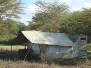 classic tent on safari in Tanzania