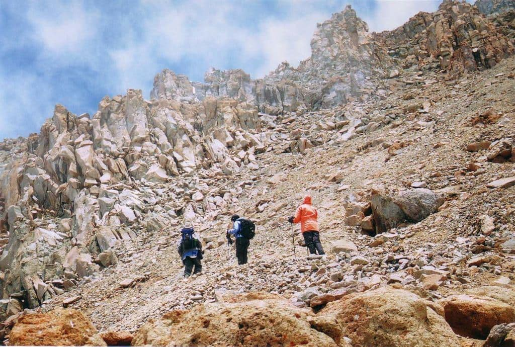 The Western Breach is a difficult ascent route to the summit of Kilimanjaro