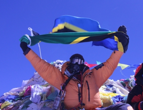 Nature Discovery Guide Wilfred Moshi Summits Mt. Everest!