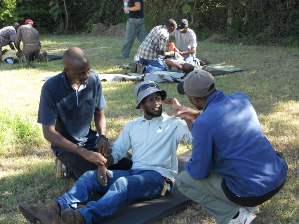 Scenario-based training is an integral part of the Wilderness First Responder certification process
